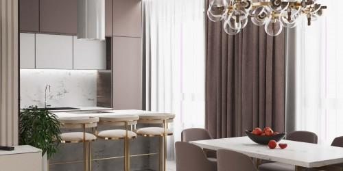 Дизайн проект 4-х комнатной квартиры в ЖК Заречный 120 м.кв.