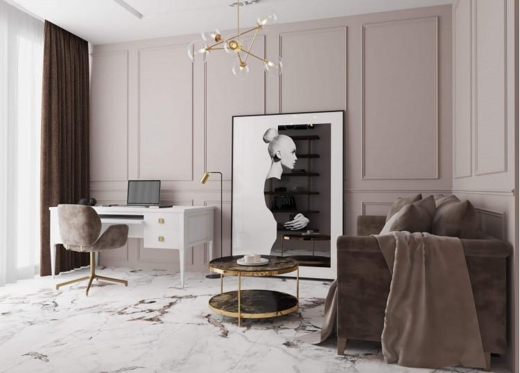 Гостевая спальня 1 в дизайн-проекте квартиры  ЖК Заречный 120 м. кв.— студия дизайна KEY Design