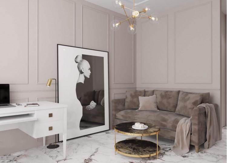 Гостевая спальня 1 в дизайн-проекте квартиры  ЖК Заречный 120 м. кв. — студия дизайна KEY Design