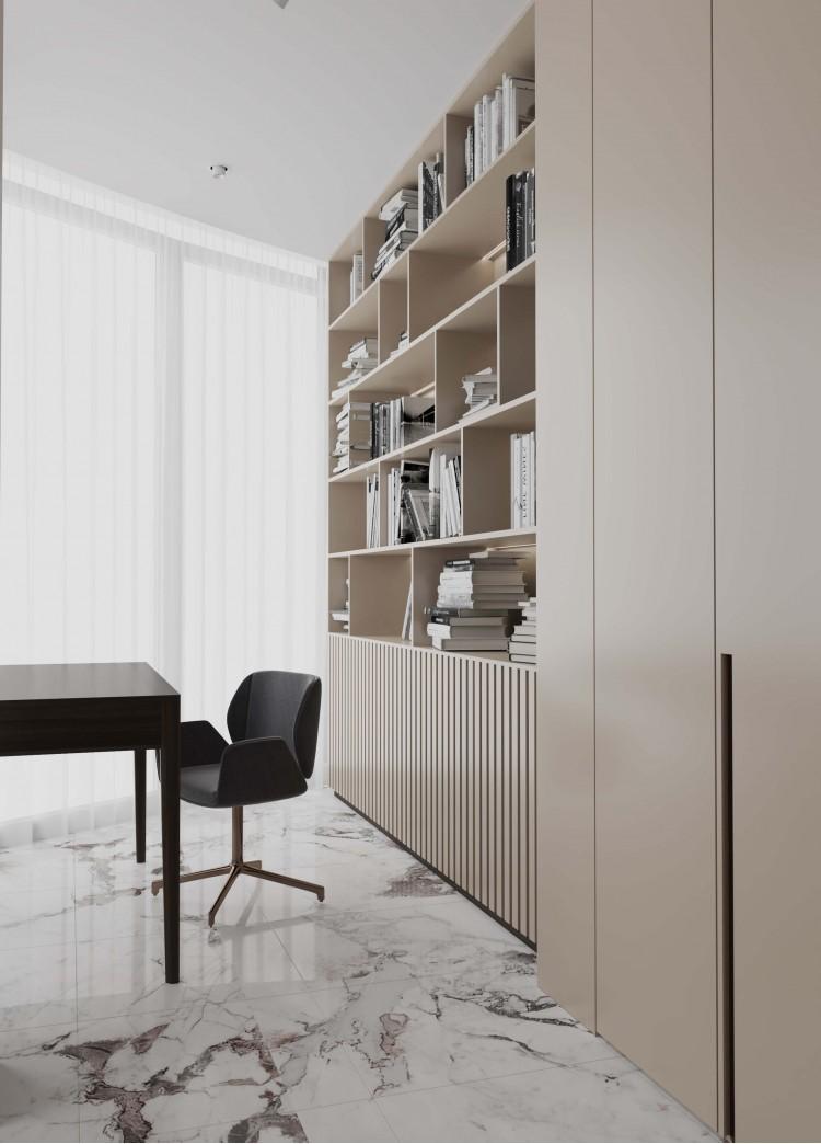 Гостевая спальня 2 в дизайн-проекте квартиры  ЖК Заречный 120 м. кв. — студия дизайна KEY Design