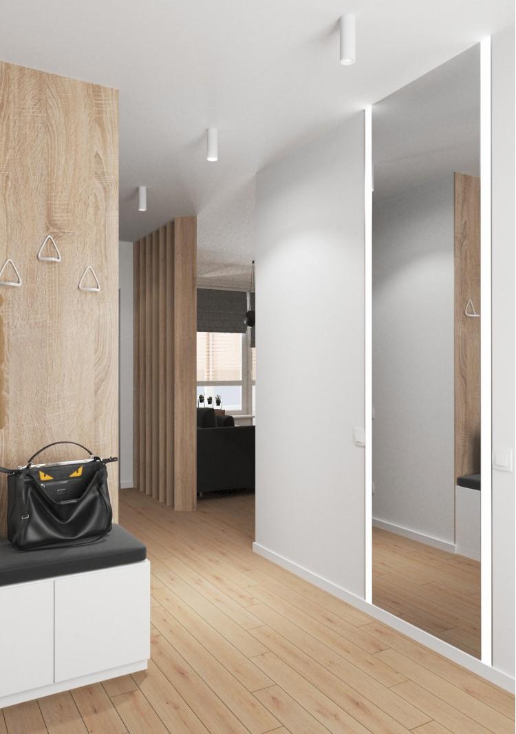 Прихожая в дизайн-проект 2-квартиры в ЖК Заречный, 50м.кв. —  студия дизайна KEY Design