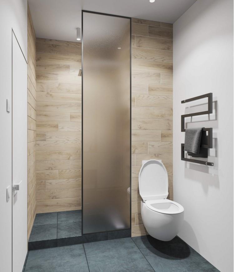 Санузел в дизайн-проект 2-квартиры в ЖК Заречный, 50м.кв. —  студия дизайна KEY Design