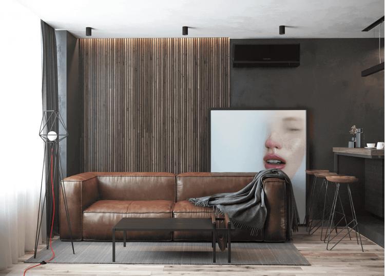 Кухня-гостиная — Дизайн-проект квартиры в ЖК Династия, 54м.кв — дизайнер Дарья Гросс