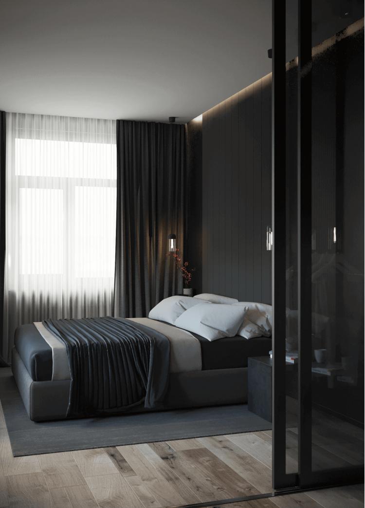 Спальня – фото интерьера № 1436