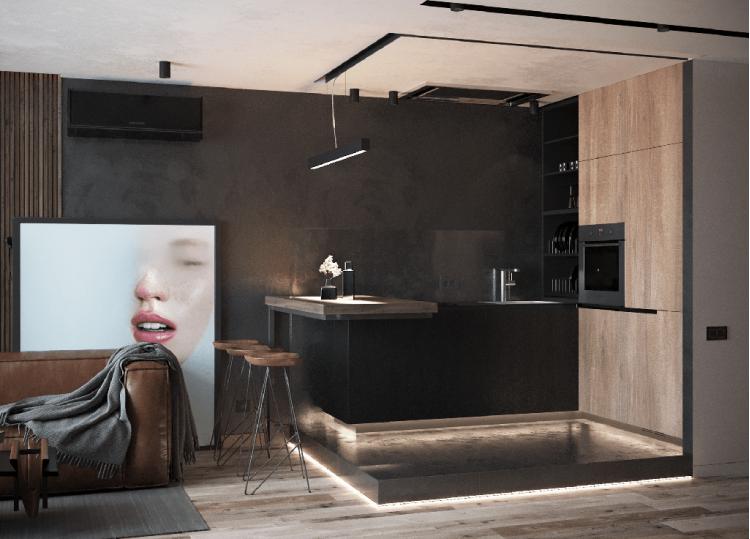 Кухня — Дизайн-проект квартиры в ЖК Династия, 54м.кв — дизайнер Дарья Гросс