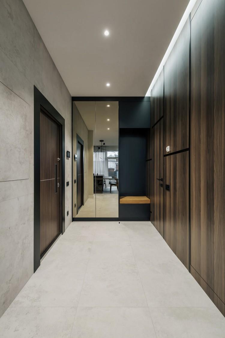 Коридор в дизайн-проекте квартиры в КД GOGOL 47, 82 м.кв. — студия дизайна TABOORET