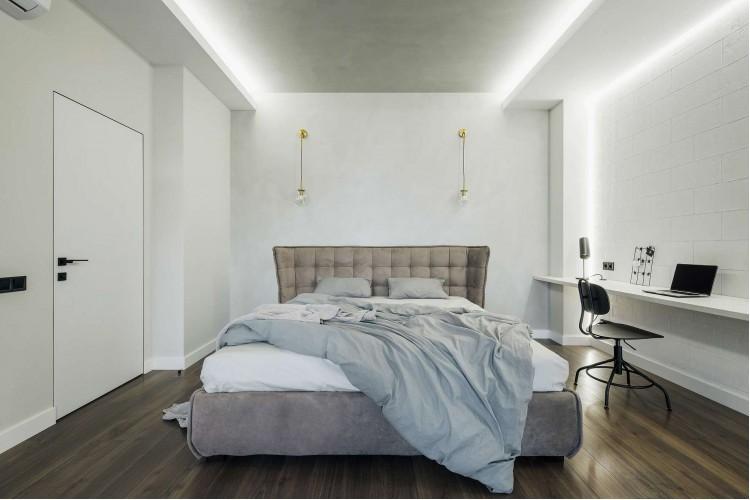 Спальня в дизайн-проекте квартиры в КД GOGOL 47, 82 м.кв. — студия дизайна TABOORET