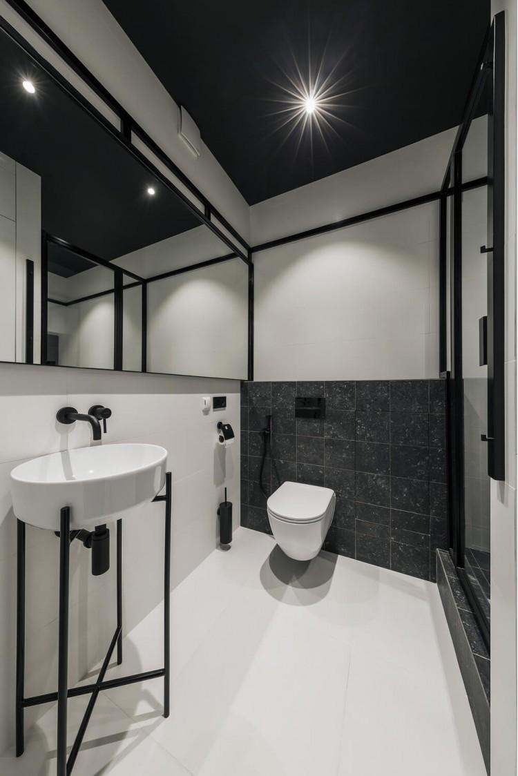 Санузел в дизайн-проекте квартиры в КД GOGOL 47, 82 м.кв. — студия дизайна TABOORET