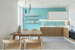 Кухня-гостиная — Дизайн-проект квартиры R65 apartment в ЖК Киевская Венеция, 65м.кв — студия дизайна TABOORET