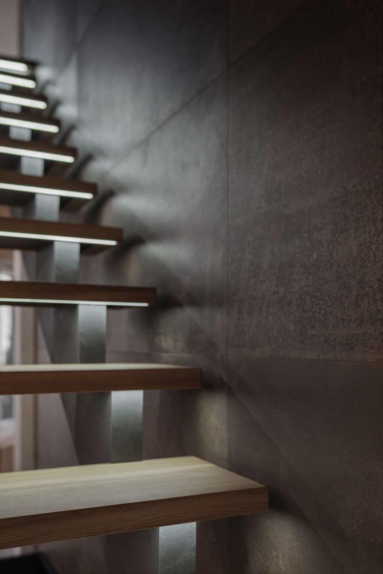 Лестница — Дизайн-проект квартиры в ЖК Сонячна Брама 175м.кв — студия дизайна TABOORET