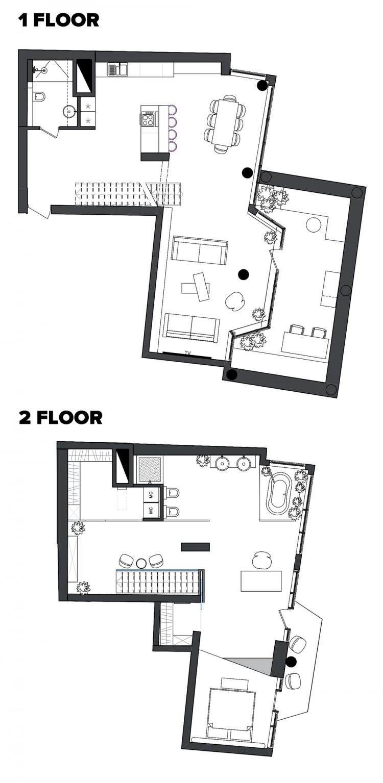 План 2-этажа — Дизайн-проект квартиры в ЖК Сонячна Брама 175м.кв — студия дизайна TABOORET