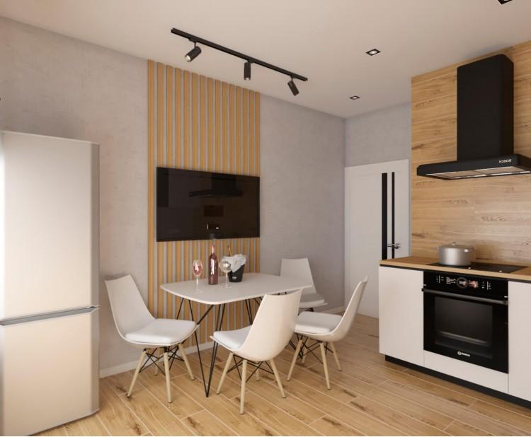 Кухня — Дизайн-проект 2-комнатной квартиры в ЖК Омега, 64 м.кв — дизайнер Елена Курник