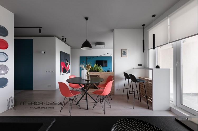 Фото дизайна: Гостина студия – BRIGHT MOOD – интерьер однокомнатной квартиры 47 м2 – 2139