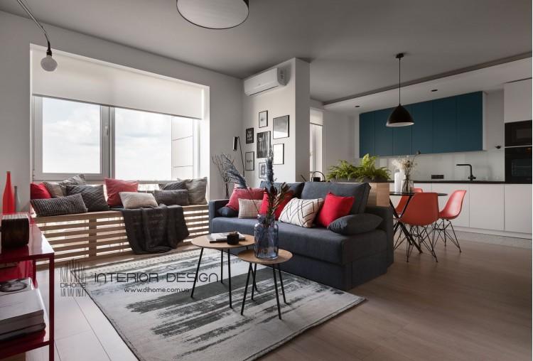Фотография: Дизайн Квартиры-студии – BRIGHT MOOD – интерьер однокомнатной квартиры 47 м2 – 2142