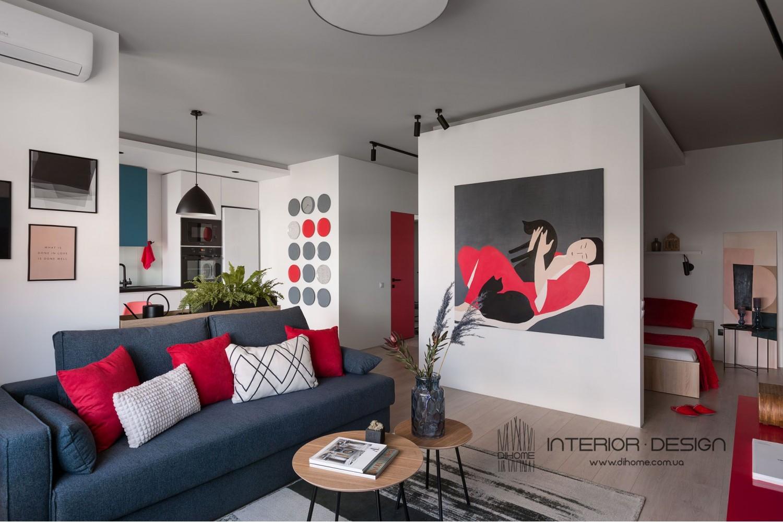 Дизайн однокомнатной квартиры-студии – 2143