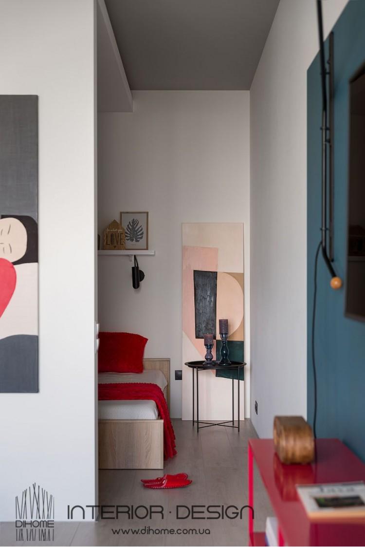 Яркие акценты в дизайне квартиры-студии – 2145