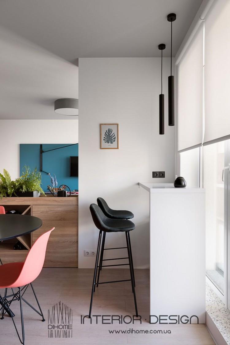 Фотография: Дизайн квартиры студии  – BRIGHT MOOD – интерьер однокомнатной квартиры 47 м2 – 2147