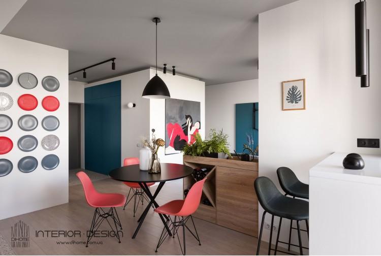Фото: Студия – BRIGHT MOOD – интерьер однокомнатной квартиры 47 м2 – 2148