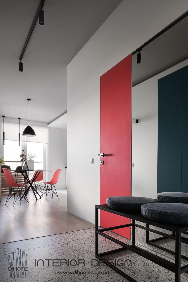 Фото: Интерьер прихожей – BRIGHT MOOD – интерьер однокомнатной квартиры 47 м2 – 2150