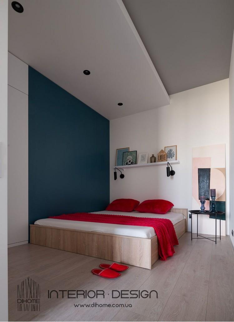 Дизайн спальни совмещённой с гостиной – 2151