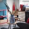 Фото интерьера: Декоративные подушки в дизайне интерьера – BRIGHT MOOD – интерьер однокомнатной квартиры 47 м2 – 2156