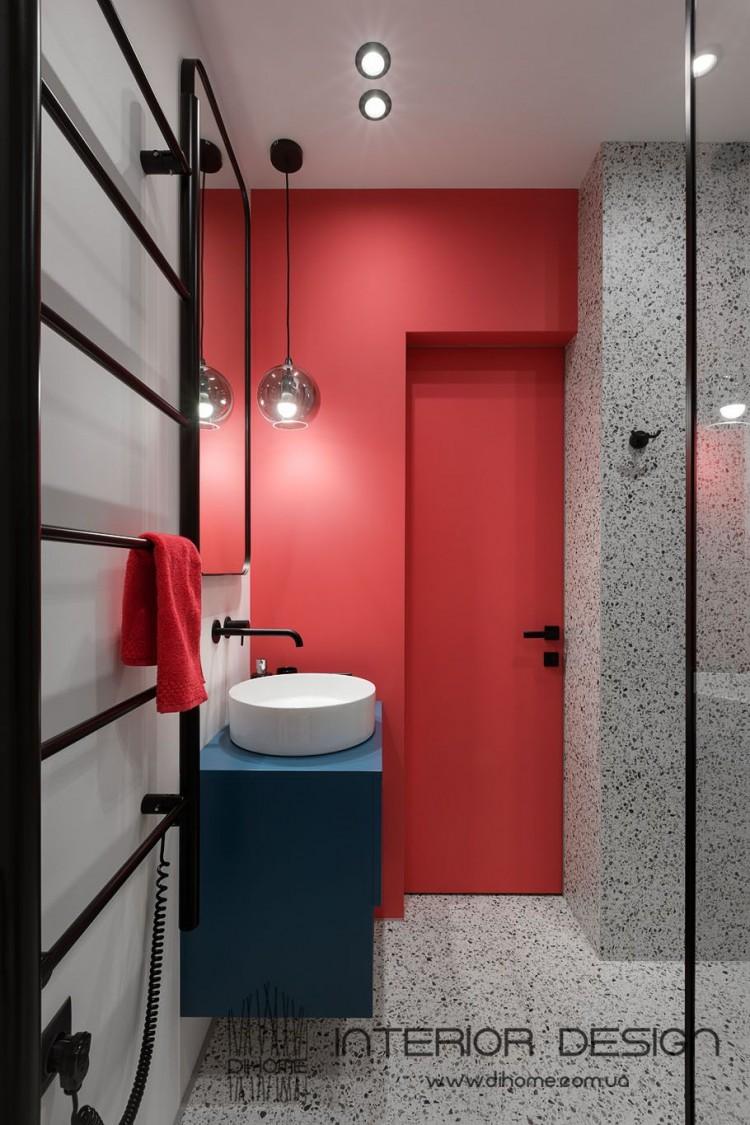 Фото дизайна: Дизайн совмещённой ванны – BRIGHT MOOD – интерьер однокомнатной квартиры 47 м2 – 2157
