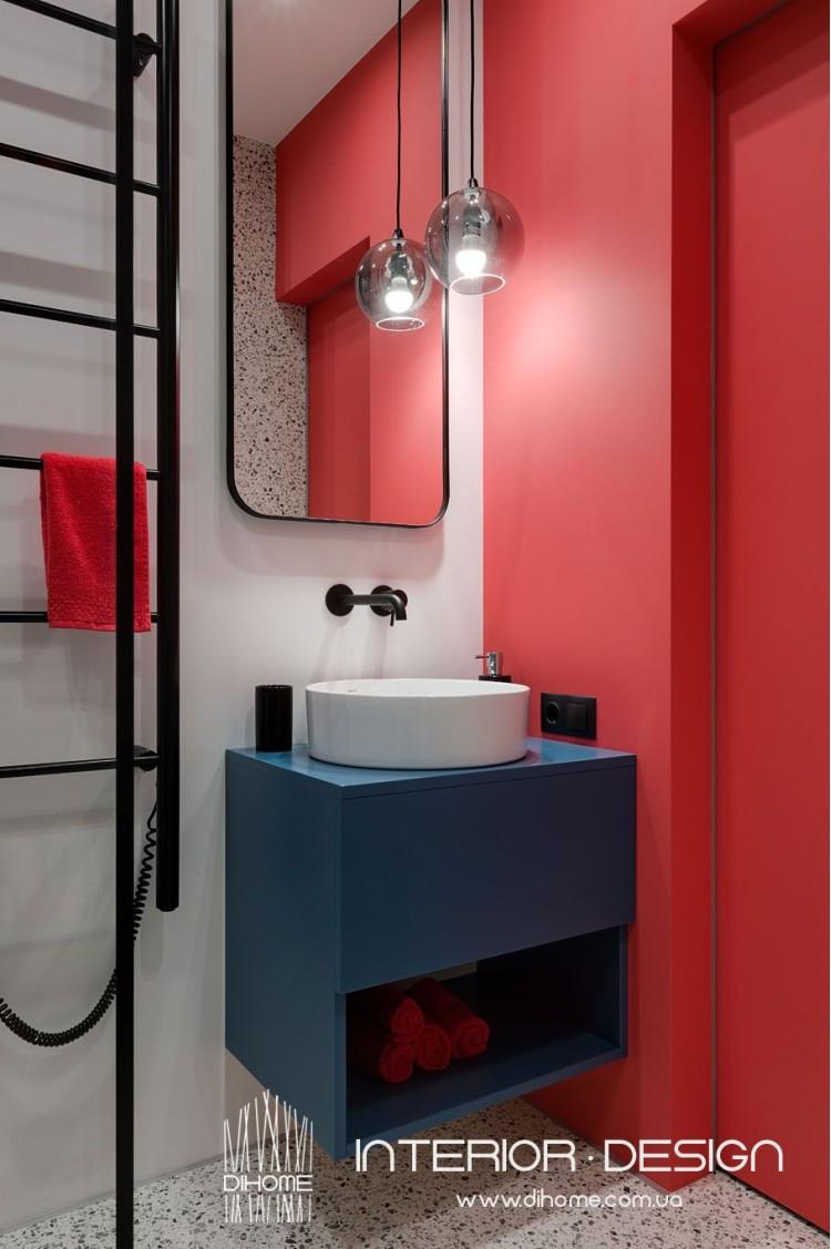 Фото дизайна: Дизайн Ванной Комнаты в квартире студии – BRIGHT MOOD – интерьер однокомнатной квартиры 47 м2 – 2158