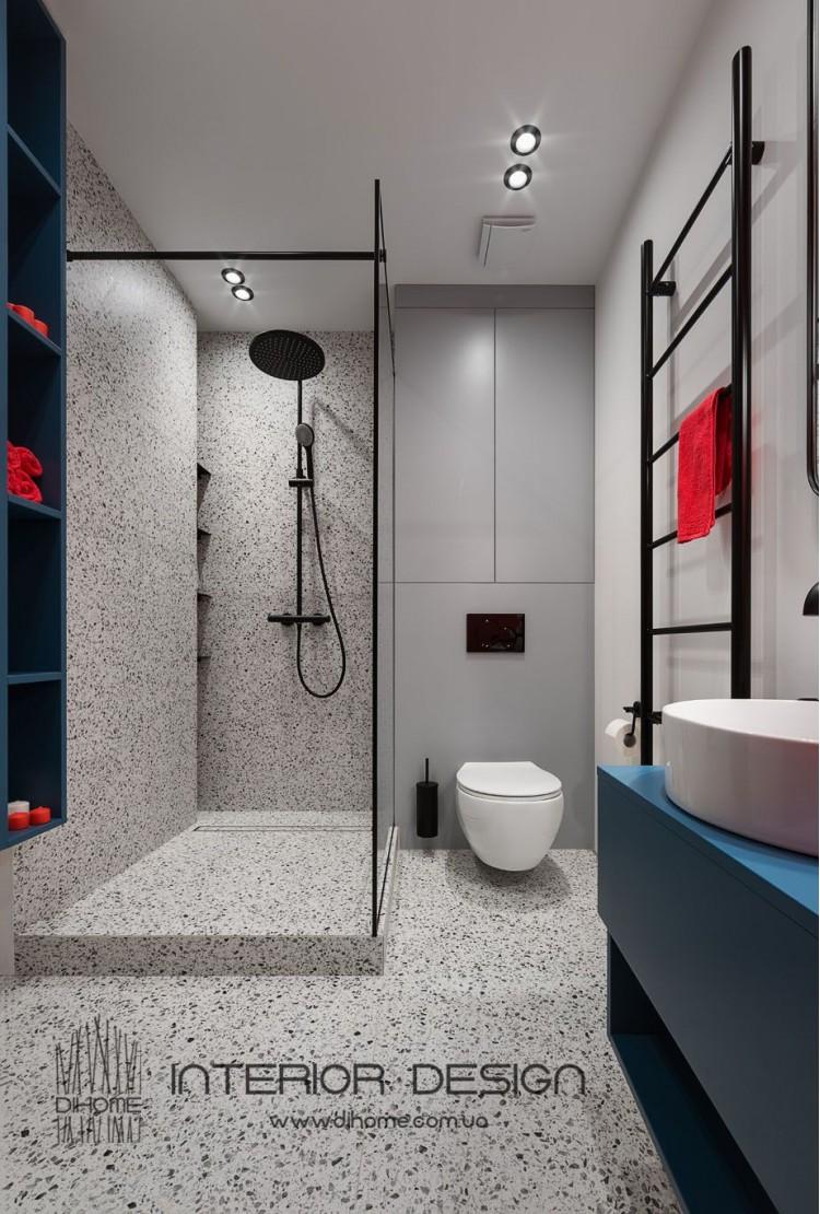 Фотография: Дизайн ванной с душевой – BRIGHT MOOD – интерьер однокомнатной квартиры 47 м2 – 2160