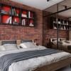 Фотография: Дизайн и интерьер спальни в стиле Лофт – URBAN LIGHT: квартира в стиле Лофт, 65 м2 – 2202