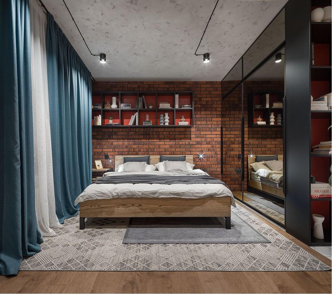 Фотография: Спальня в стиле Лофт – URBAN LIGHT: квартира в стиле Лофт, 65 м2 – 2204