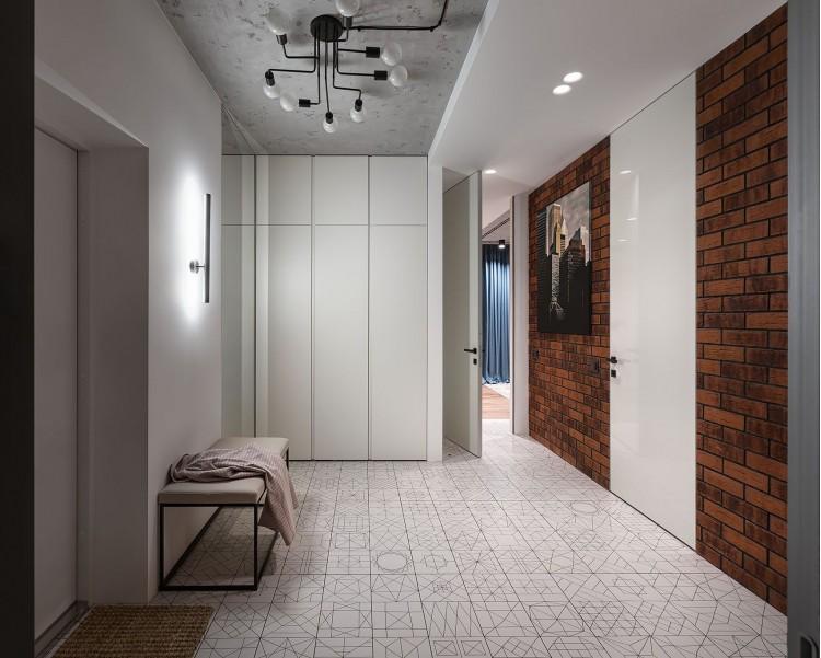 Фото: Дизайн холла – URBAN LIGHT: квартира в стиле Лофт, 65 м2 – 2209