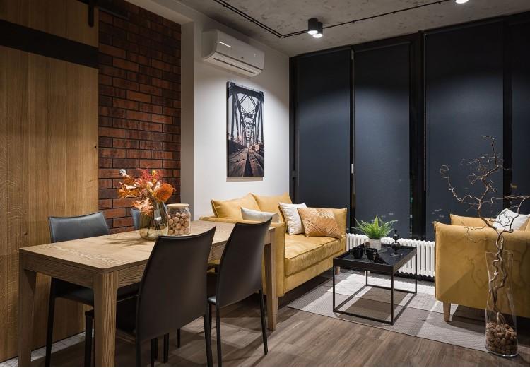 Фото: Дизайн кухни-студии – URBAN LIGHT: квартира в стиле Лофт, 65 м2 – 2213