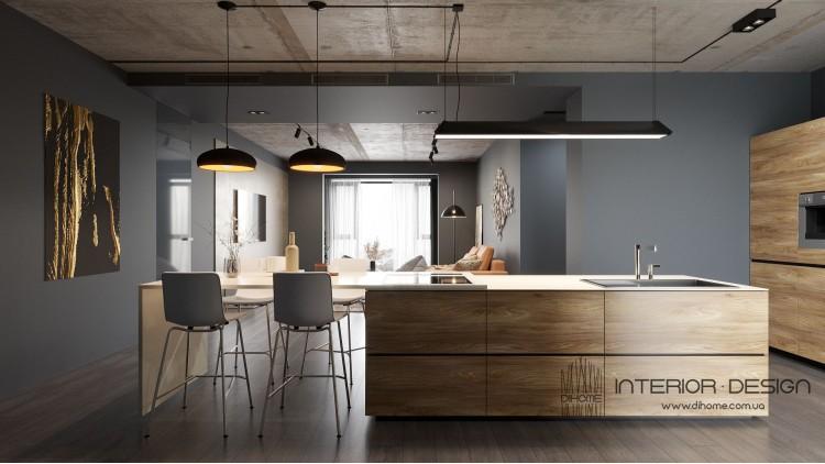 Кухня-гостиная – лучшее фото ремонта № 2214