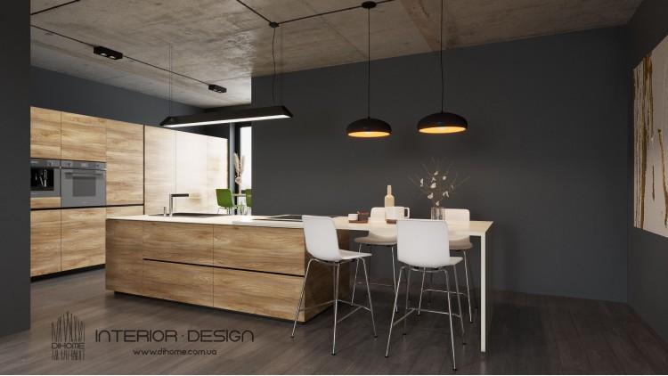 Кухня-гостиная – красивое фото декоратора № 2215