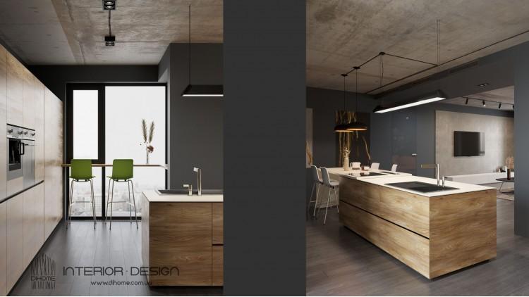 Кухня-гостиная – оригинальное фото декоратора интерьера № 2216