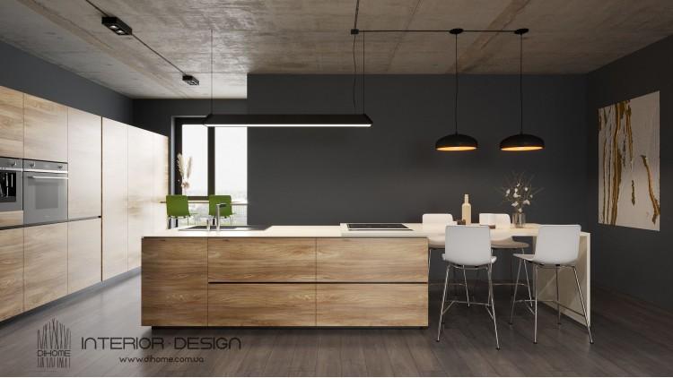 Кухня-гостиная – красивое фото идеи для дизайна № 2218