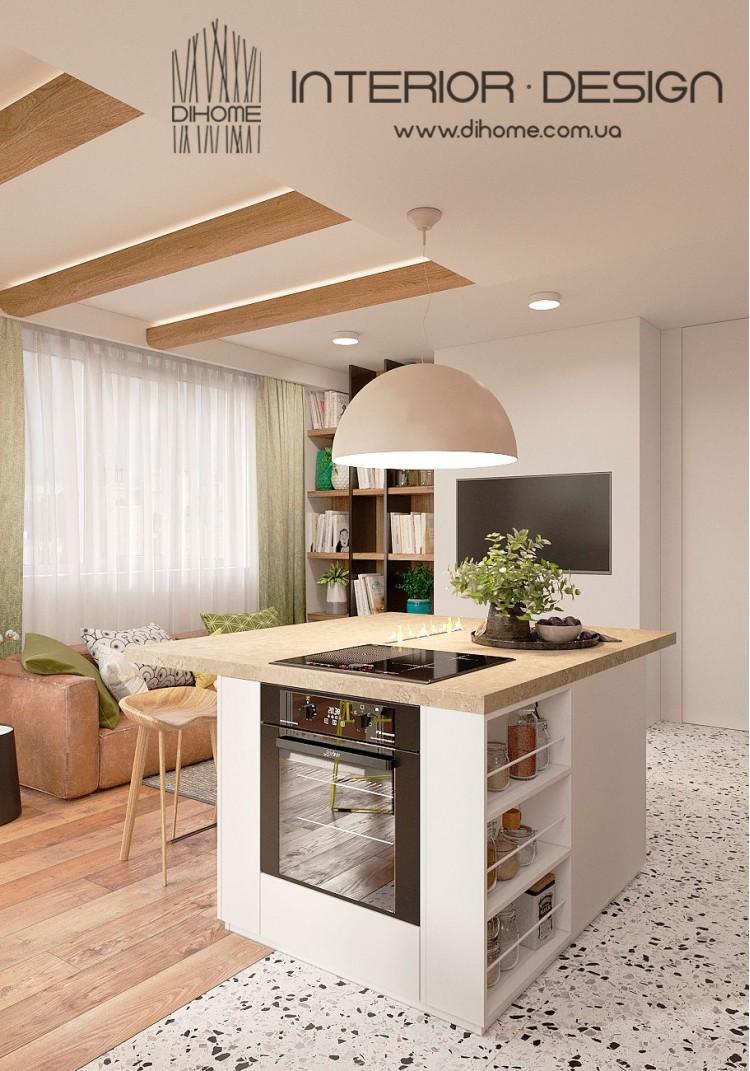 Кухня-гостиная – лучшее фото ремонта № 2228