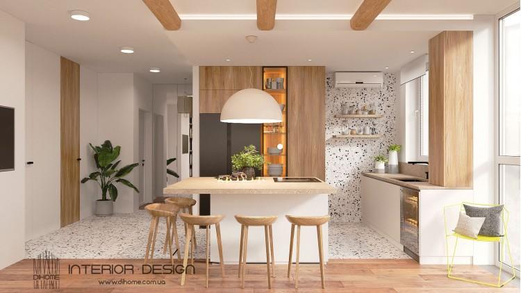 Кухня-гостиная – популярное фото дизайна-интерьера № 2231