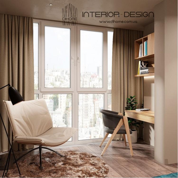 Спальня с балконом – новое фото дизайнера № 2249