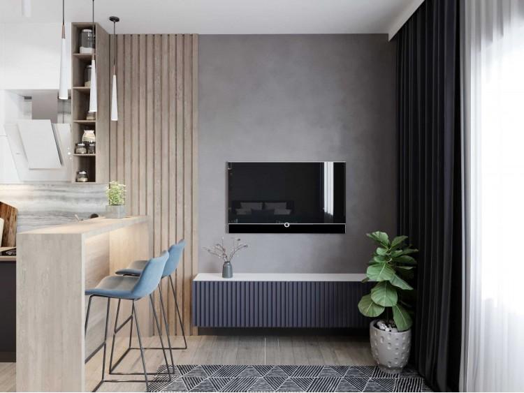 Кухня-гостиная – качественное фото квартиры № 2106