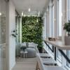 Лоджия  в дизайн-проекте квартиры в ЖК Jack House, 86 м.кв. — студия дизайна Novoselskiy Design
