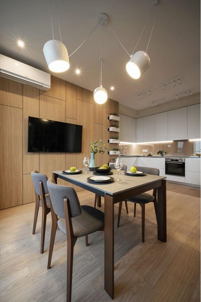 Кухня в дизайн-проекте квартиры в ЖК Jack House, 86 м.кв. — студия дизайна Novoselskiy Design
