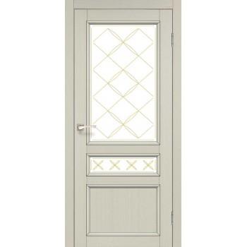Двери Korfad CLASSICO CL-05 Белый перламутр