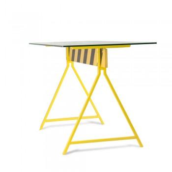 Стол Caution – стеклянный – индустриальный стиль