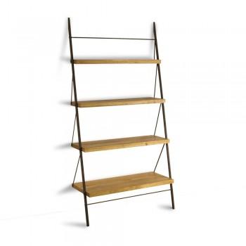 Стеллаж Slope – дизайнерский стеллаж из дерева и металла