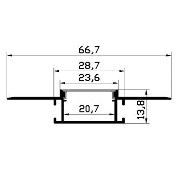 Алюминиевый профиль Skarlat LED PXG-305