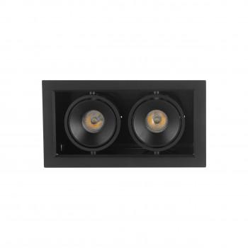 Точечный светильник Skarlat BX07-2-LED 2*7W BK 3000K