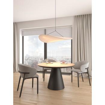 Обеденный стол круглый Cone 1500 дуб