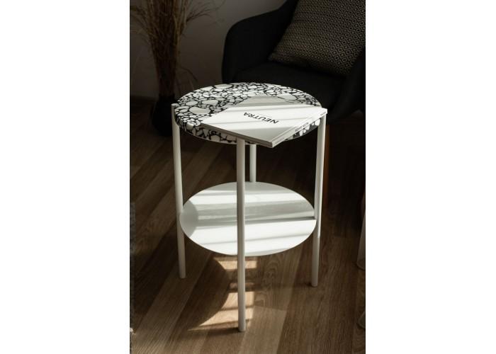 Кофейный столик Moon 40 столешница тераццо  4