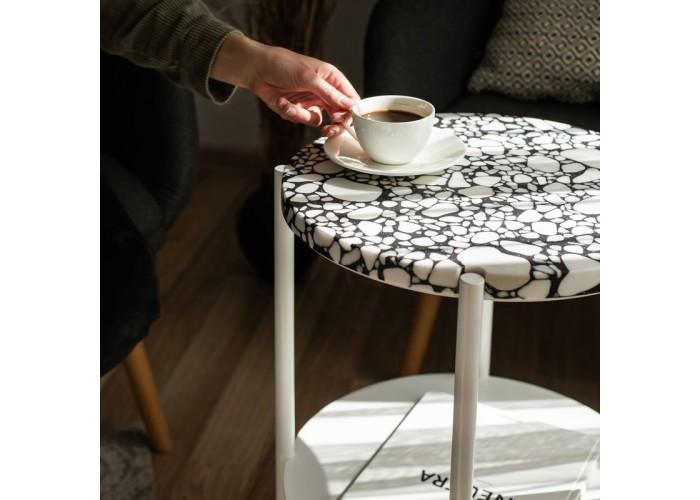 Кофейный столик Moon 40 столешница тераццо  1